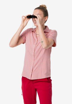 KEPLER - Button-down blouse - blush pink checks