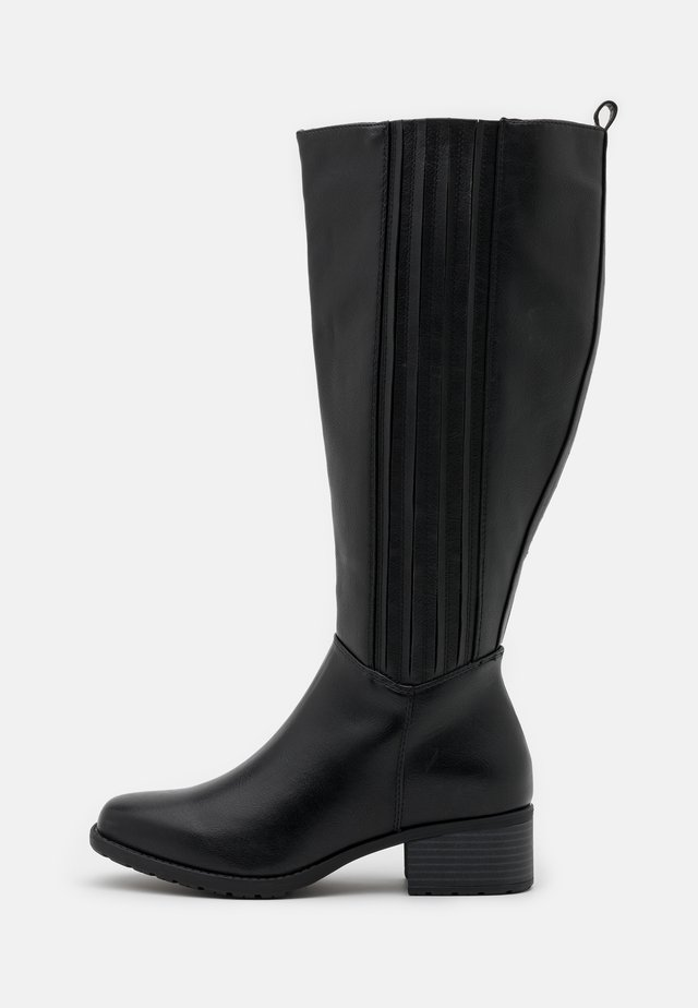 WIDE FIT CLEATED SOLE SQUARE TOE BOOT - Saappaat - black