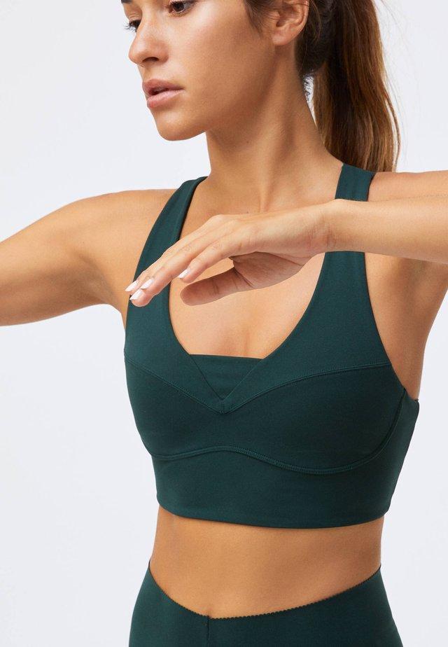 Sports bra - evergreen