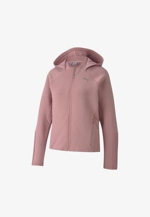 Zip-up hoodie - foxglove