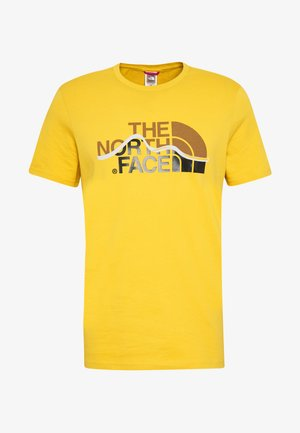 MOUNTAIN LINE TEE - T-shirt con stampa - bamboo yellow