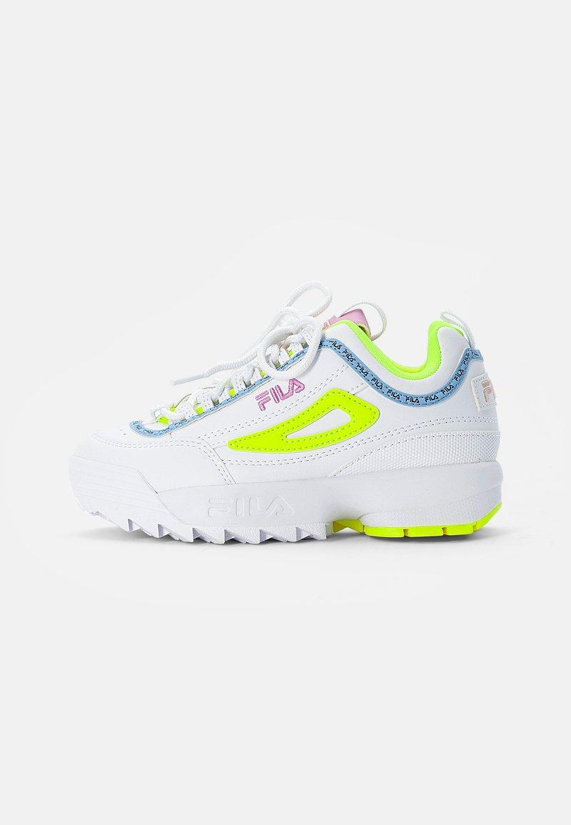 Fila - DISRUPTOR KIDS - Trainers - white/neon lime