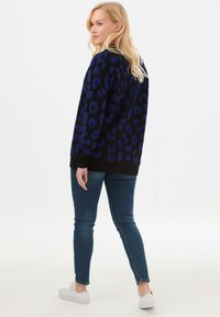 Sugarhill Brighton - ALLIE IKAT ANIMAL - Cardigan - black - 2