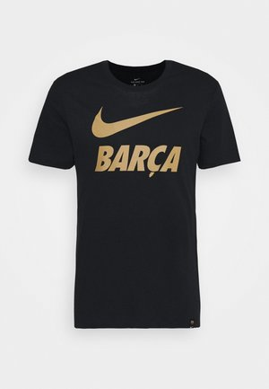 FC BARCELONA TEE GROUND - Vereinsmannschaften - black