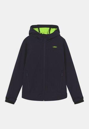 FIX HOOD UNISEX - Soft shell jacket - blue/yellow fluo