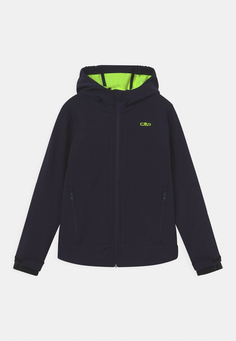 Campagnolo - FIX HOOD UNISEX - Soft shell jacket - blue/yellow fluo