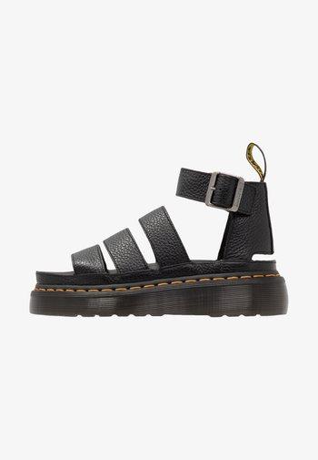 CLARISSA QUAD - Platform sandals - black aunt sally