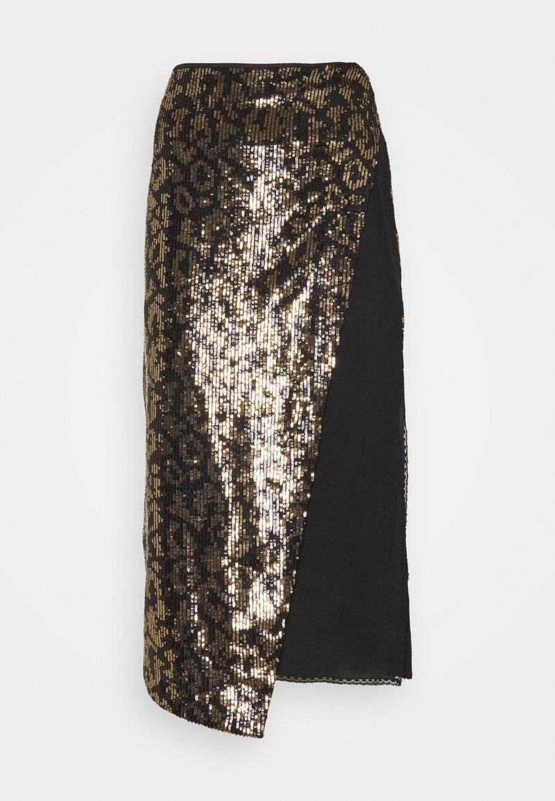 N°21 - Pouzdrová sukně - nero/giallo