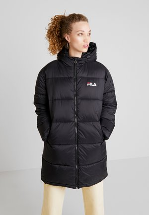 BRONWED PUFF HOOD JACKET - Winter coat - black