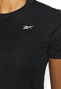 Reebok - RUN ESSENTIALS T-SHIRT - T-shirt de sport - black - 5