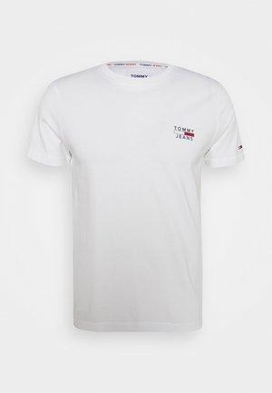 CHEST LOGO TEE - T-shirt z nadrukiem - white
