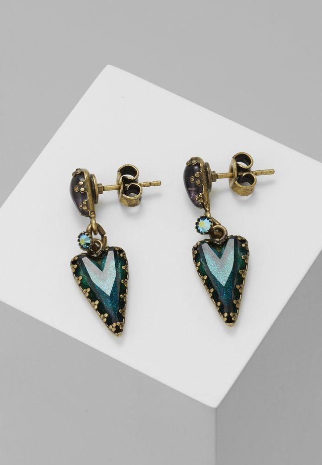 SNOW WHITE - Earrings - blue/green