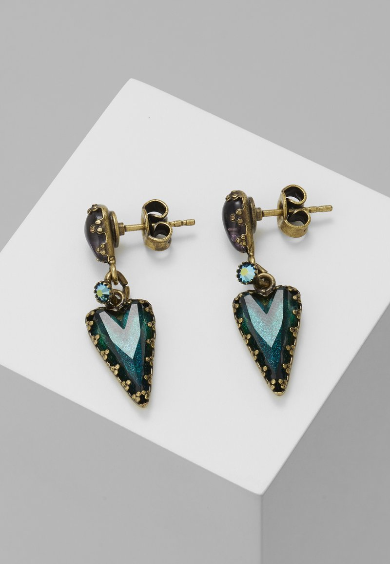 Konplott - SNOW WHITE - Earrings - blue/green