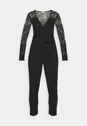 OCCASION LONG SLEEVES BELTED STRAIGHT LEG  - Jumpsuit - black