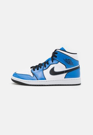 AIR 1 MID SE - Höga sneakers - signal blue/black/white