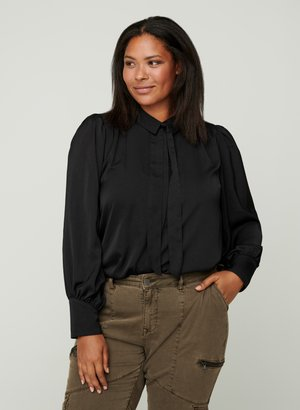 MIT BINDEDETAIL - Overhemdblouse - black