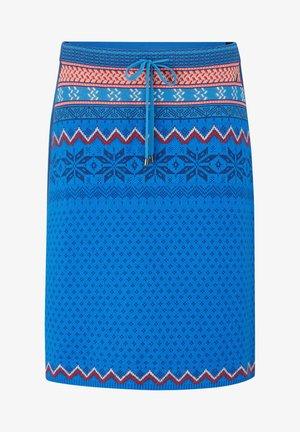 ROCK NAHLA - A-line skirt - azurblau