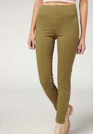 SKINNY - Leggings - Trousers - olive green