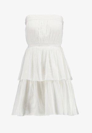 TALISA STRAPLESS MINI DRESS - Denní šaty - white