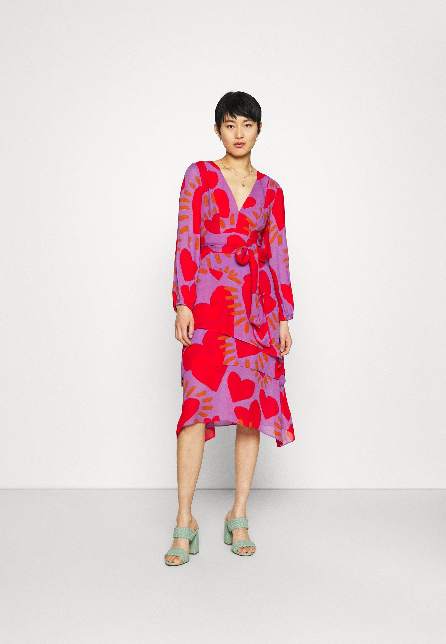 Women WILD HEARTS LAYERED MIDI DRESS - Day dress