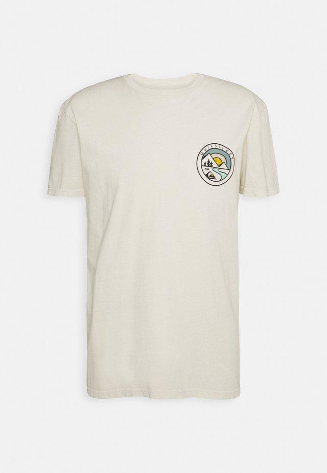 MOUNTAIN VIEW - Print T-shirt - oatmeal