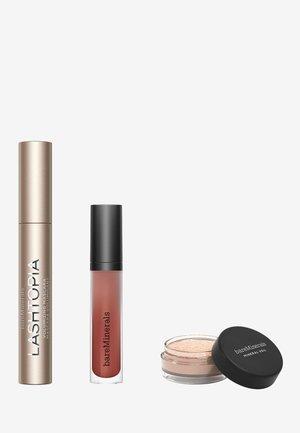 MASCARA, MATTE LIP COLOR & FINISHING POWDER TRIO - Makeup set - bo$$black original