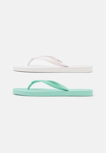 2 PACK - Pool shoes - white/mint