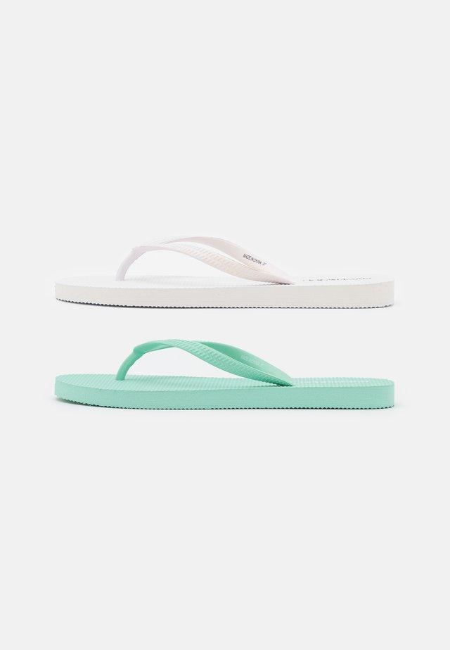 2 PACK - Teenslippers - white/mint