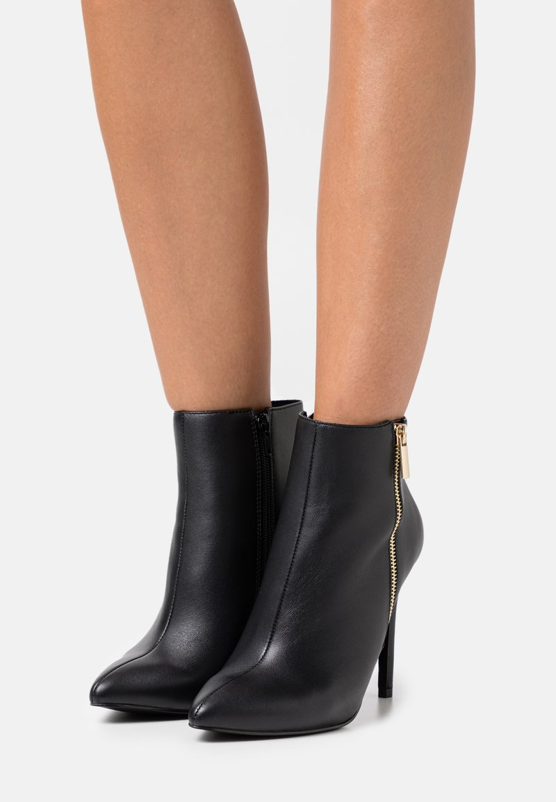 Even&Odd Wide Fit - LEATHER - High heeled ankle boots - black