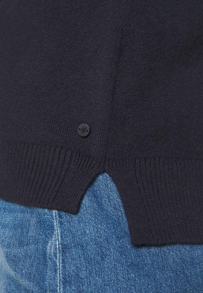 Marc O'Polo LONGSLEEVE BASIC WITH ROUNDNECK - Strickpullover - midnight blue/dunkelblau grPZJD