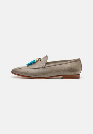 SCARLETT 3 - Slip-ons - light grey/turquoise/white/natural