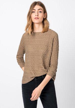 MIT LUREXGARN - Pullover - camel