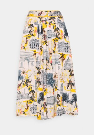 EL AUDAZ FLARED SKIRT - A-line skirt - lemon yellow