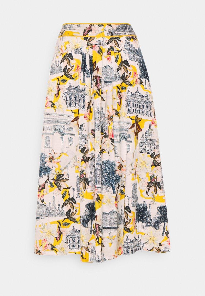 Thought - EL AUDAZ FLARED SKIRT - A-line skirt - lemon yellow