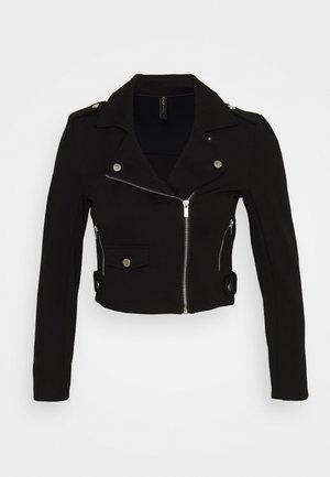 ONLPOPTRASH BIKER JACKET - Summer jacket - black
