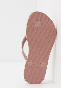 Havaianas - SLIM BRASIL LOGO - Pool shoes - crocus rose - 4