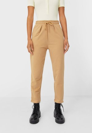 MIT KORDELZUG - Tracksuit bottoms - brown