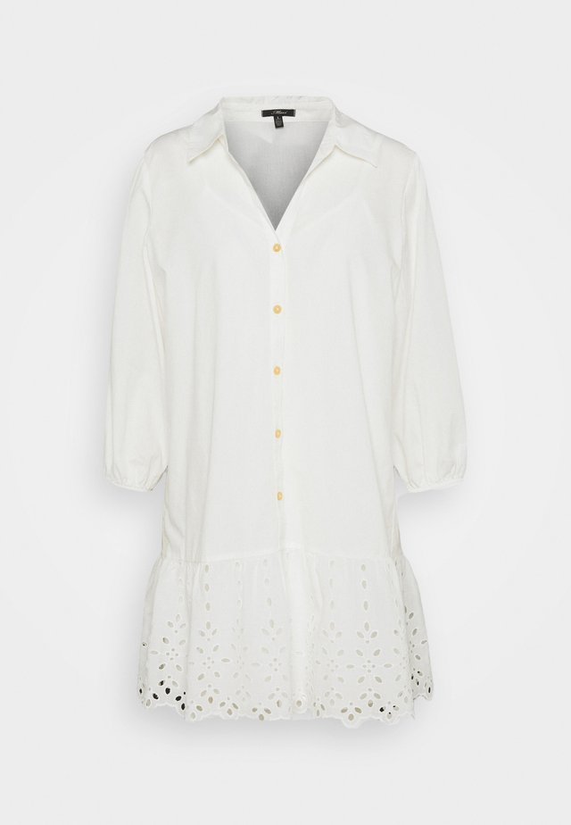 EMBROIDERED DRESS - Shirt dress - antique white