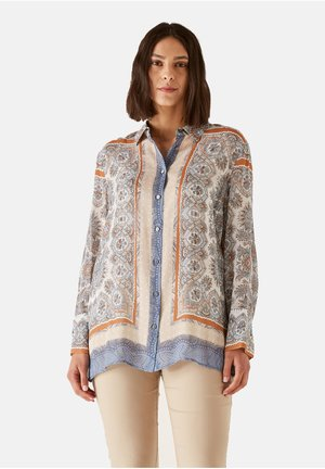 Button-down blouse - blu