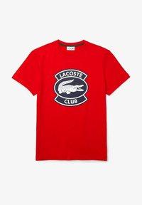 Lacoste - Print T-shirt - rouge - 5