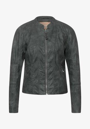 Faux leather jacket - grau