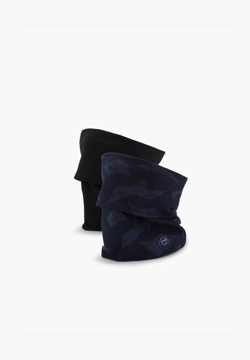 s.Oliver - 2ER-SET - Snood - black uni & blue aop