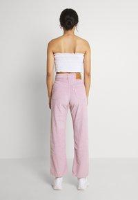 Levi's® - RIBCAGE STRAIGHT ANKLE - Trousers - pebble keepsake lilac - 2