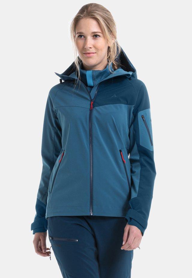 PENIA L - Soft shell jacket - blau