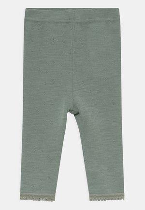 NBFWANG NEEDLE UNISEX - Leggings - Trousers - turquoise