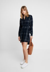 Great Plains London - AGNES CHECK - Shirt dress - space navy combo - 1