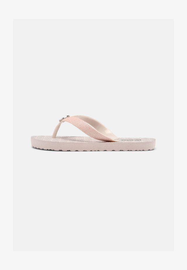 ENDINE - T-bar sandals - barely pink