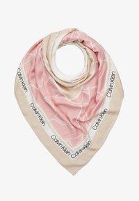 Calvin Klein - FLORAL SCARF - Šátek - beige - 0