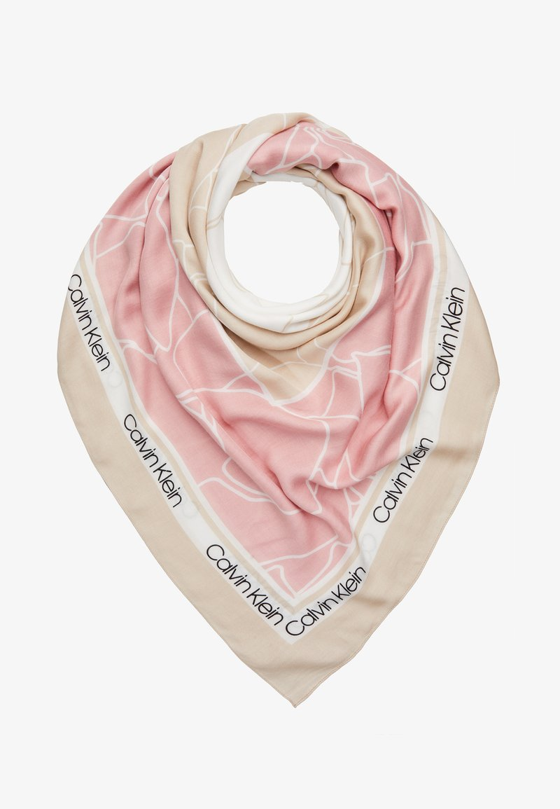 Calvin Klein - FLORAL SCARF - Šátek - beige