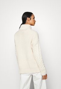 NA-KD - BIG NECK CABLE - Jumper - off white - 2